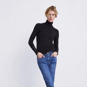 Zara Basic Turtleneck Sweater Small NWT